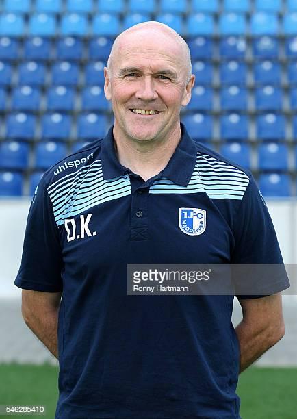 Fitness coach Dirk Keller poses during the team presentation of 1 FC Magdeburg at MDCCArena on July 7 2016 in Magdeburg Germany Dirk Keller