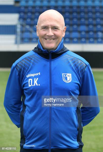 Fitness coach Dirk Keller poses during the team presentation of 1 FC Magdeburg at MDCCArena on July 13 2017 in Magdeburg Germany