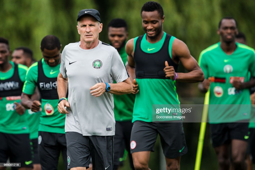 Fitness coach Jean Luc Royer during the Nigeria Training at the The hive on May 31, 2018 in Barnet United Kingdom