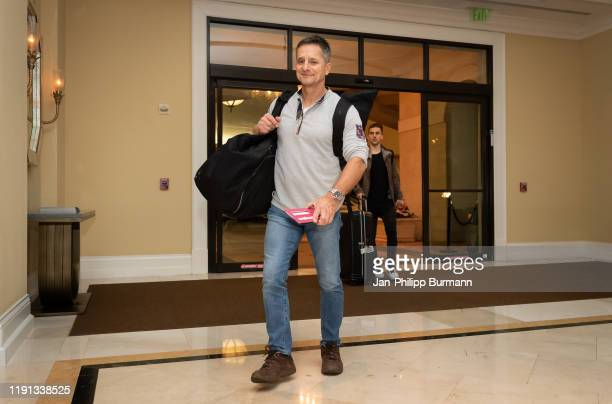 Fitness coach Werner Leuthard of Hertha BSC during the arrival at the Resort on January 2, 2020 in Orlando, Florida.