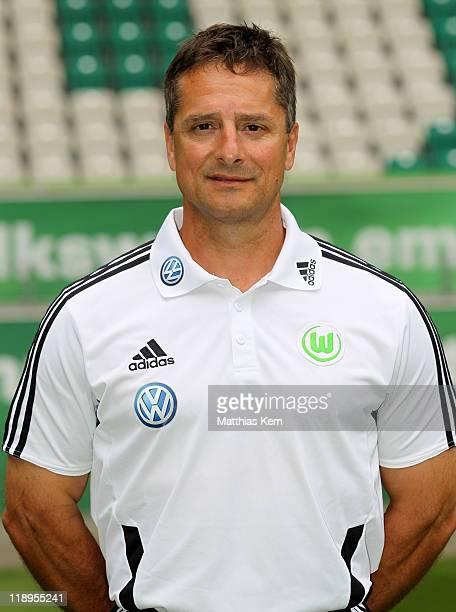 Fitness coach Werner Leuthard poses during the VFL Wolfsburg Team Presentation at Volkswagen Arena on July 12, 2011 in Wolfsburg, Germany.
