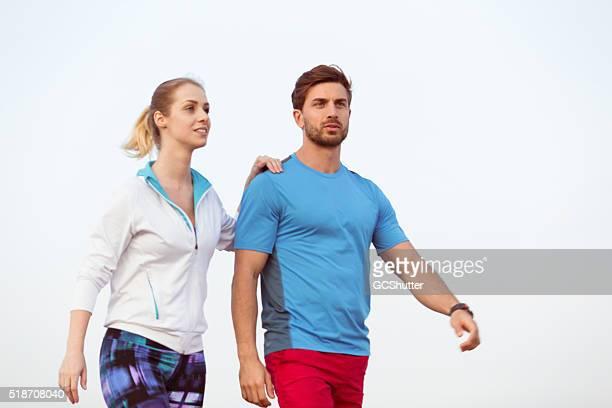 Fitness-paar Ausübung zusammen