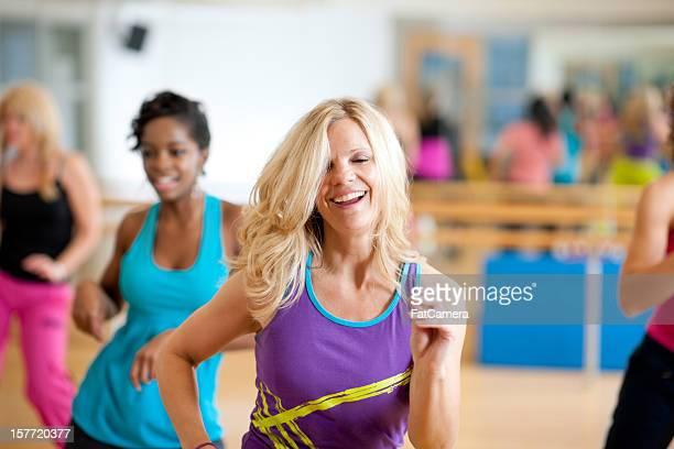 Fitness dance class
