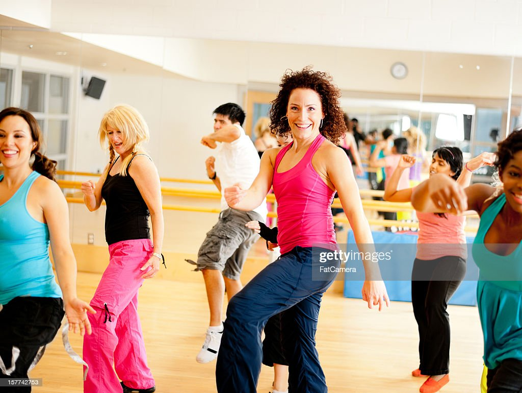 Fitness dance class : Stock Photo