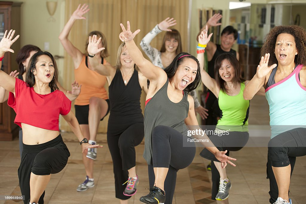 Fitness dancing : Stock Photo