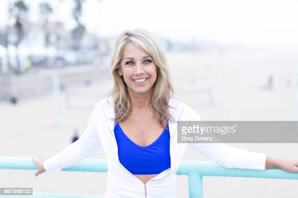 Fitness Enthusiast Denise Austin attends the Skechers' 9th Annual Pier To Pier Friendship Walk at Manhattan Beach Pier on October 29 2017 in...