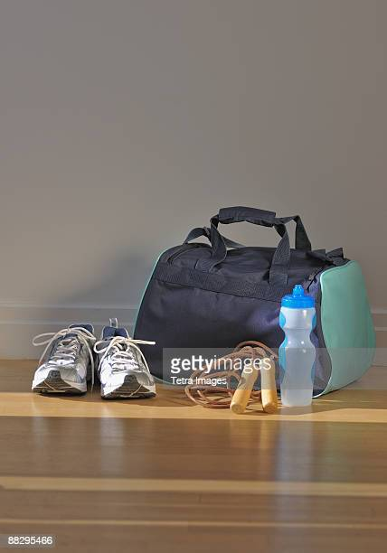 fitness equipment - gym bag stock pictures, royalty-free photos & images