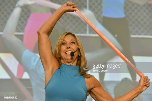 Fitness expert Denise Austin teaches a Total Body Workout for EveryBODY during the first day of the Wellness Your Way Festival at the Colorado...