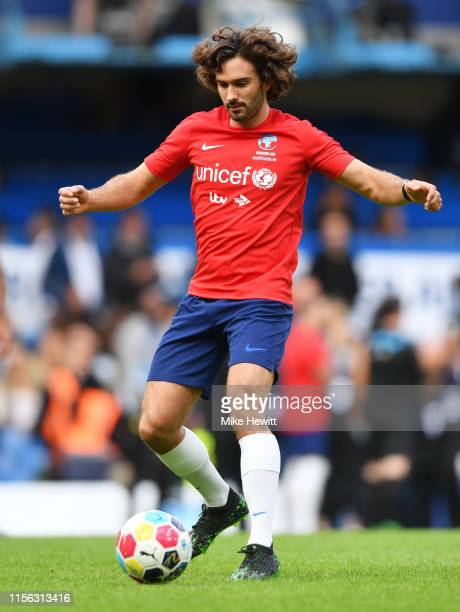 Fitness expert Joe Wicks of England warms up prior to the Soccer Aid for UNICEF 2019 match between England and the Soccer Aid World XI at Stamford...