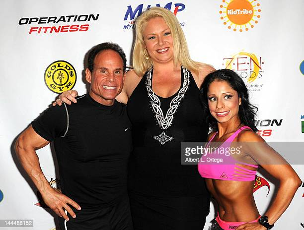 Fitness expert Mike Tochina and personality Robin Coleman participate in The Operation Fitness Free Health Fitness Expo held at Westfield Culver City...