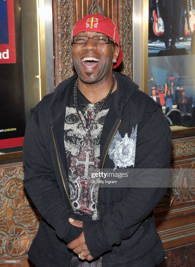 Fitness expert Tony Hill arrives to the opening night of 'Rain: A Tribute To The Beatles' at The Pantages Theatre on March 31, 2009 in Los Angeles, California.