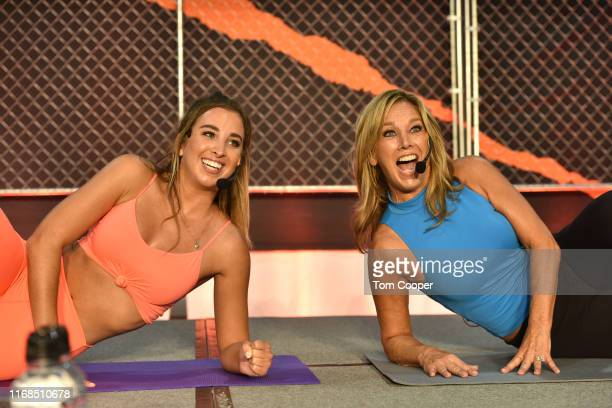 Fitness experts Denise and Katie Austin teach a Total Body Workout for EveryBODY during the first day of the Wellness Your Way Festival at the...