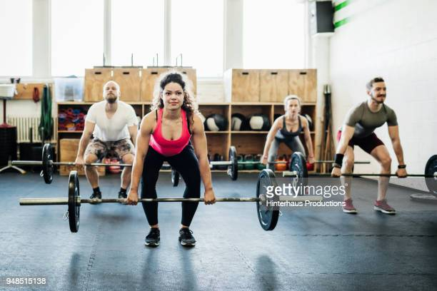 Fitness Experts Weight Training Together