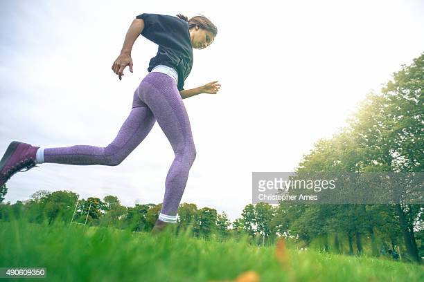 Fitness: Fit Young Woman Running in the Park