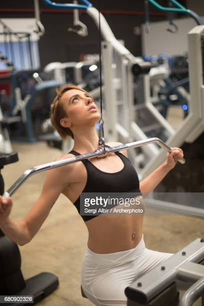 Fitness girl working out