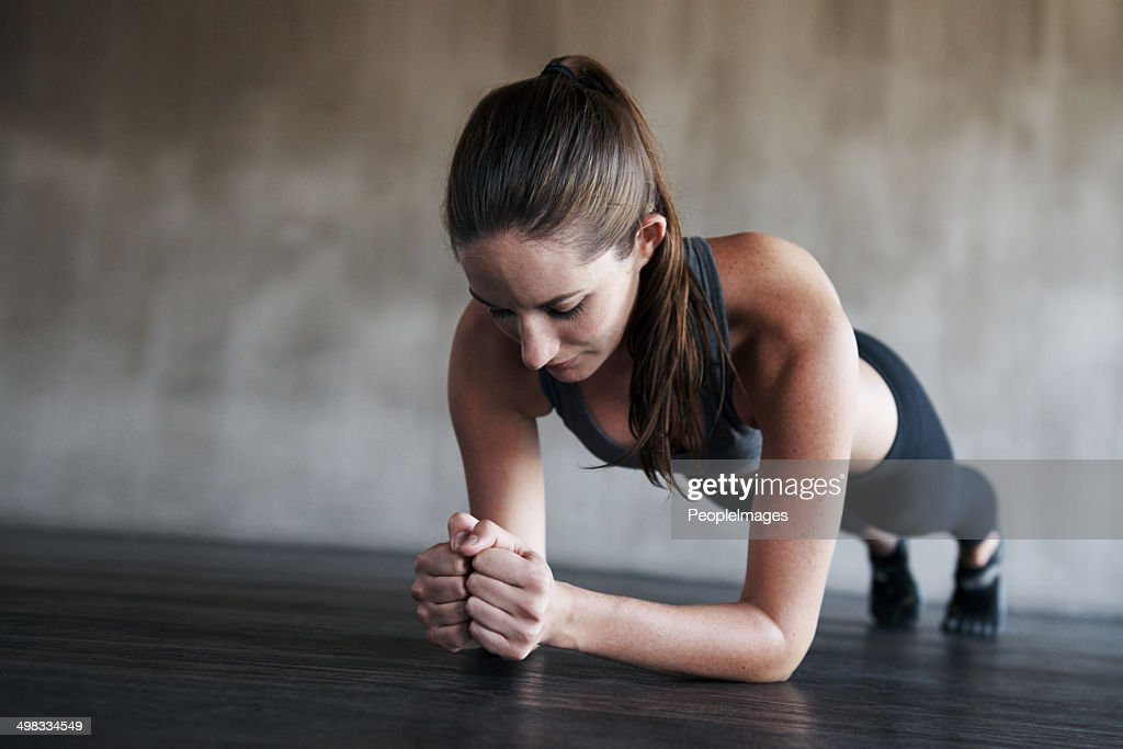Fitness goals are achieved not given : Stock Photo
