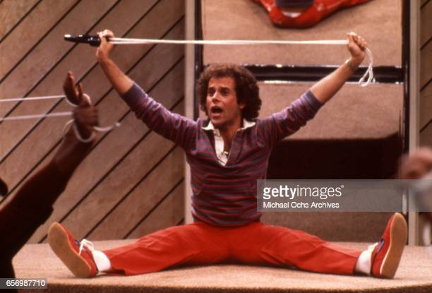Fitness guru Richard Simmons works out in circa 1980 in Los Angeles California