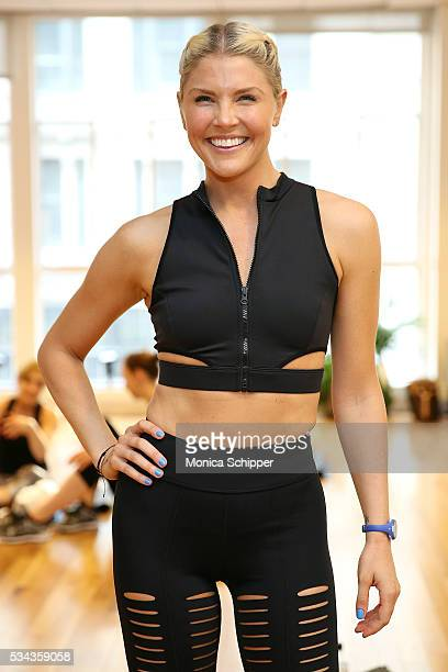 Fitness instructor Amanda Kloots attends the Cushnie et Ochs x Bandier Collection Launch Party at Bandier Flatiron on May 25 2016 in New York City