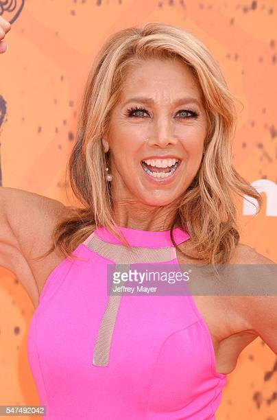 Fitness instructor Denise Austin arrives at Nickelodeon Kids' Choice Sports Awards 2016 at UCLA's Pauley Pavilion on July 14 2016 in Westwood...