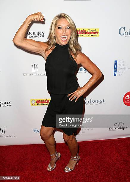 Fitness instructor Denise Austin attends 16th Annual Harold and Carole Pump Foundation Gala at The Beverly Hilton Hotel on August 12 2016 in Beverly...