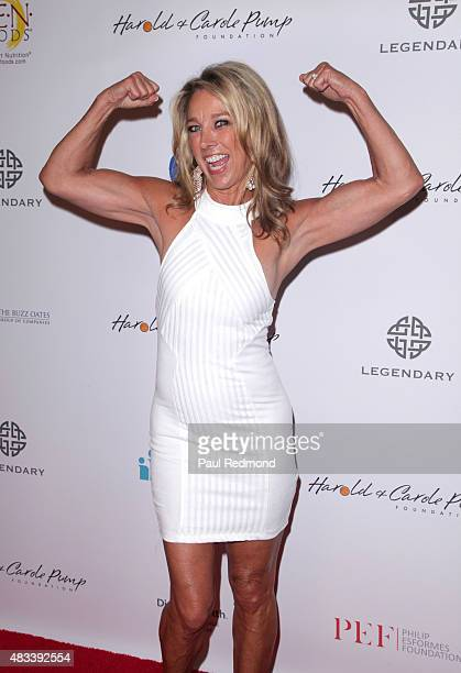 Fitness instructor Denise Austin attends the 15th Annual Harold And Carole Pump Foundation Gala at the Hyatt Regency Century Plaza on August 7 2015...