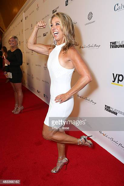 Fitness instructor Denise Austin attends the 15th annual Harold Carole Pump Foundation gala at the Hyatt Regency Century Plaza on August 7 2015 in...
