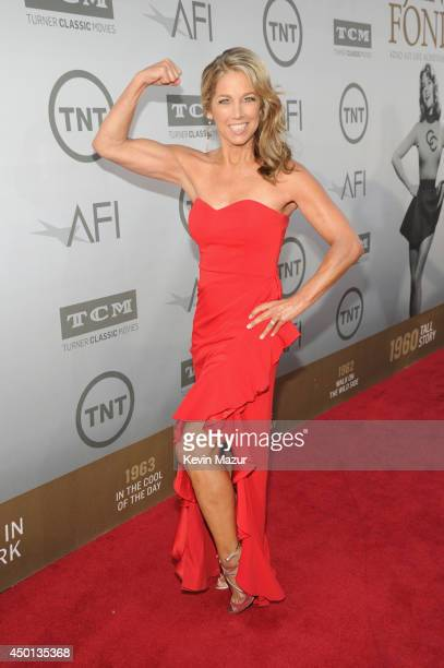 Fitness Instructor Denise Austin attends the 2014 AFI Life Achievement Award A Tribute to Jane Fonda at the Dolby Theatre on June 5 2014 in Hollywood...
