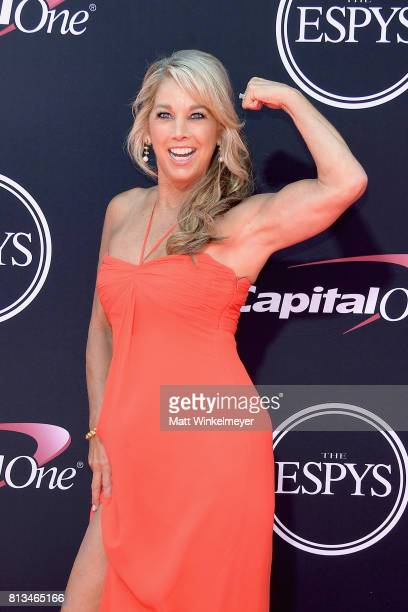Fitness instructor Denise Austin attends The 2017 ESPYS at Microsoft Theater on July 12 2017 in Los Angeles California