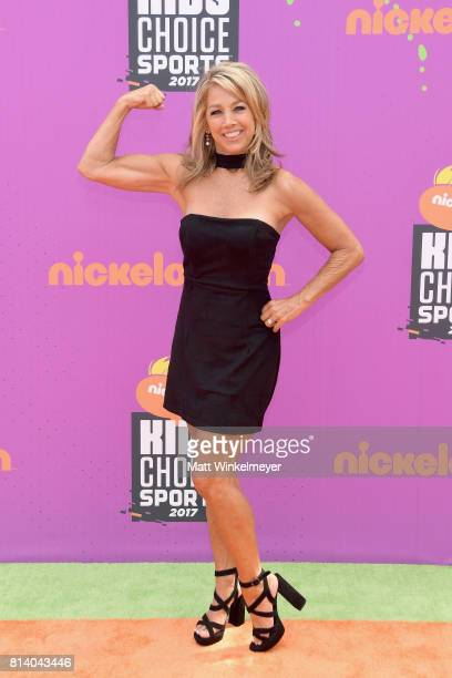 Fitness instructorauthor Denise Austin attends Nickelodeon Kids' Choice Sports Awards 2017 at Pauley Pavilion on July 13 2017 in Los Angeles...