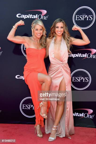 Fitness instructors Denise Austin and Katie Austin attend The 2017 ESPYS at Microsoft Theater on July 12 2017 in Los Angeles California