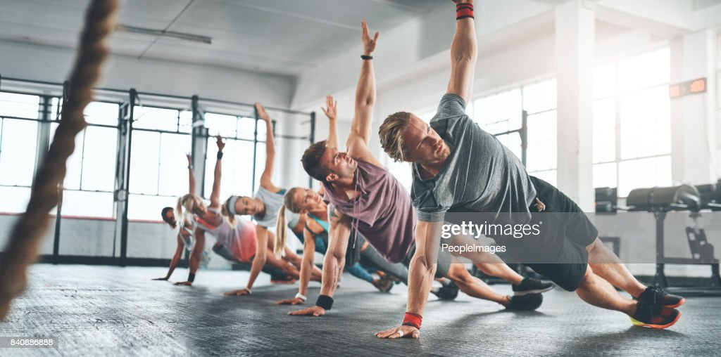 Fitness is something you attain and maintain : Stock Photo