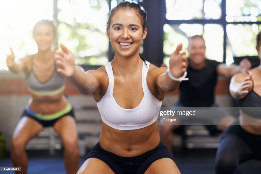 Fitness keeps me smiling : Stock Photo