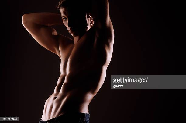 fitness man - naturist male stock pictures, royalty-free photos & images