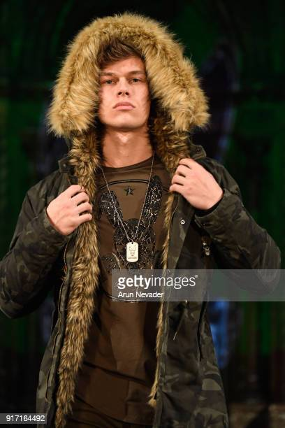 Fitness Model Marc Coppola walks the runway during the MisterTripleX presentation during New York Fashion Week Powered by Art Hearts Fashion NYFW at...