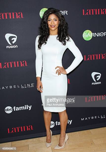 Fitness Model Massiel Arias attends Latina Magazine's 30 Under 30 celebration at SkyBar at the Mondrian Los Angeles on November 13 2014 in West...