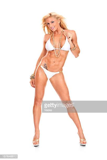 fitness model - female bodybuilder stock pictures, royalty-free photos & images