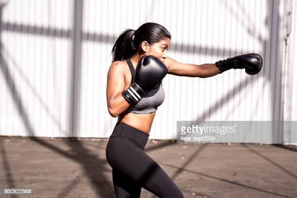 fitness moment - mixed boxing stock photos and pictures
