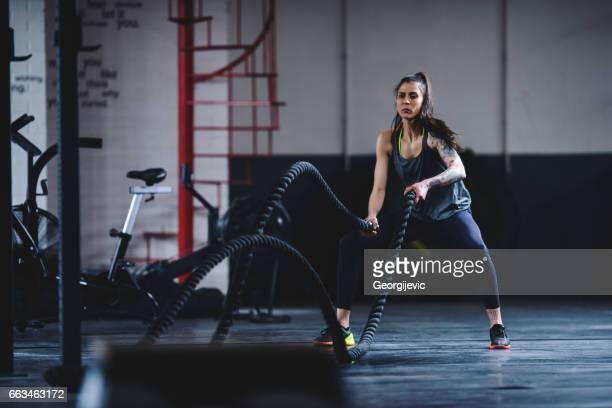 Fitness op de touwen