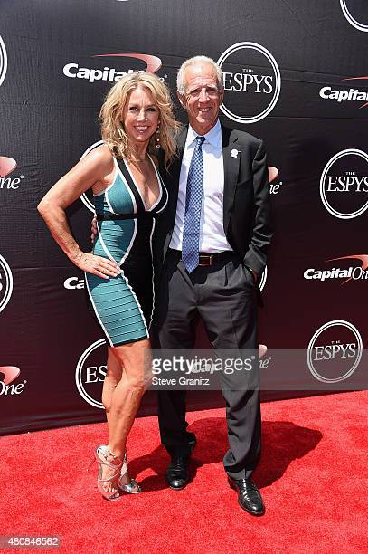 Fitness personality Denise Austin and Jeff Austin attend The 2015 ESPYS at Microsoft Theater on July 15, 2015 in Los Angeles, California.