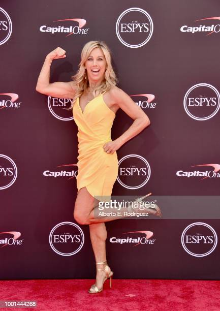 Fitness personality Denise Austin attends The 2018 ESPYS at Microsoft Theater on July 18 2018 in Los Angeles California