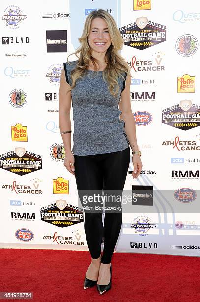 Fitness personality Rachel Elizabeth Murray attends the 2nd Annual Celebrity Flag Football Game benefiting Athletes VS Cancer at Granada Hills...