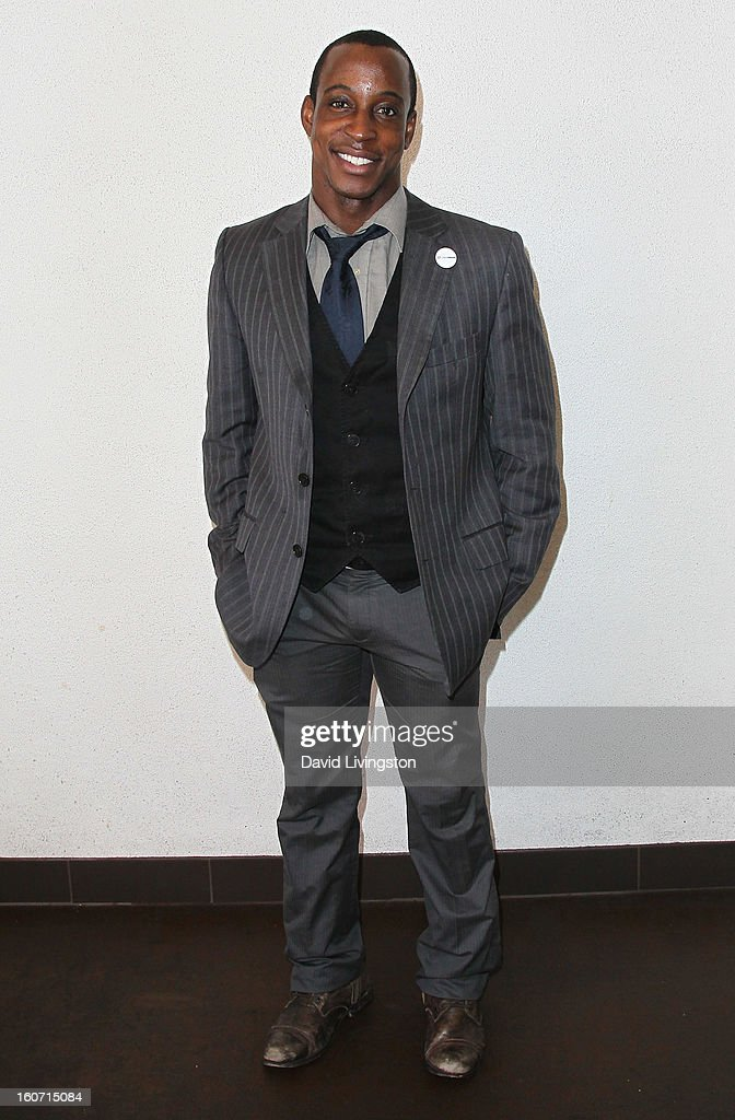 Fitness personality Shaka Smith attends the Anti-Human Trafficking Family Charity Luncheon in support of Unlikely Heroes at the Veggie Grill on February 4, 2013 in Los Angeles, California.