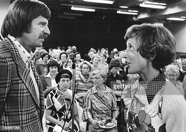 OCT 5 1977 OCT 6 1977 Fitness Pointers Go With Gourmet Cooking John Gillingham director of Stapleton Plaza Athletic Club exchanges fitness pointers...