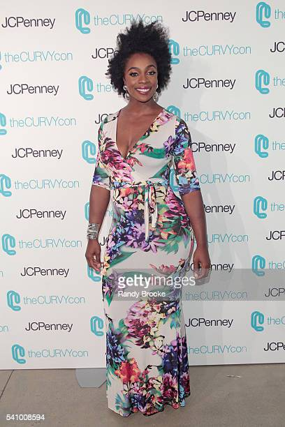 Fitness professional Anowa Adjah attends TheCurvyCon 2016 at Metropolitan Pavilion West on June 17 2016 in New York City