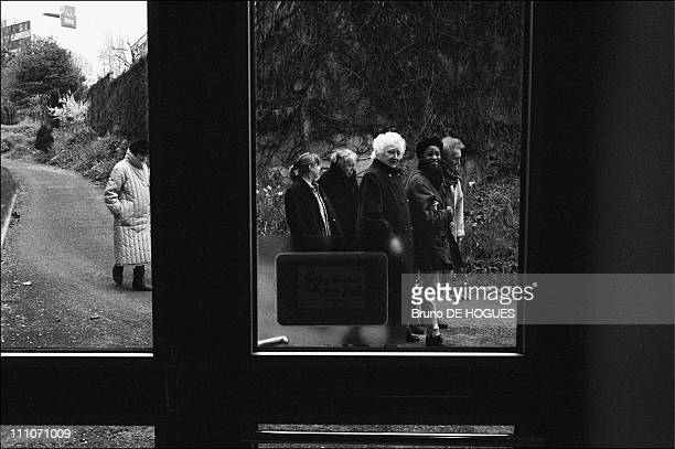 """Fitness trail at """"Sacred heart"""" Retirement home in Gentilly, France on September 01, 1998."""