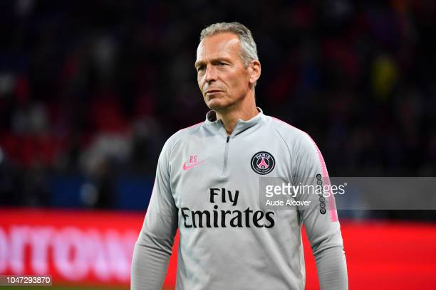 Fitness trainer Rainer Schrey of Psg during the Ligue 1 match between Paris Saint Germain and Lyon at Parc des Princes on October 7 2018 in Paris...