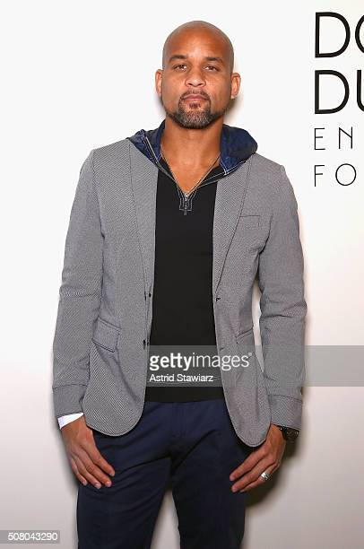 Fitness trainer Shaun Thompson attends the EFM Autumn/Winter 2016 Men's Presentation at Skylight at Clarkson Sq on February 2, 2016 in New York City.