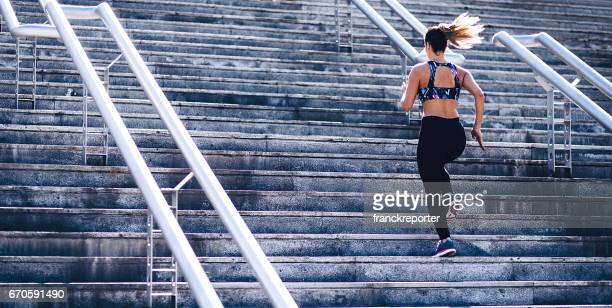 fitness woman running on the street