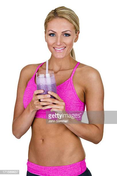 Fitness woman with a smoothie