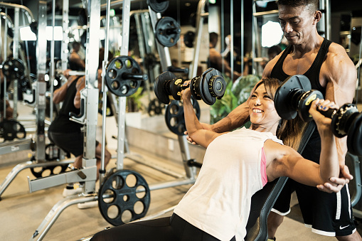 Fitness woman working out at Private gym - gettyimageskorea